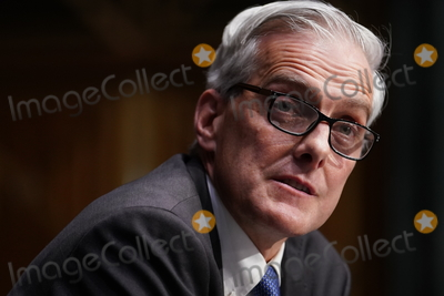 Barack Obama, Joe Biden Photo - Denis McDonough, U.S. secretary of Veterans Affairs (VA) nominee for U.S. President Joe Biden, speaks during a Senate Veterans' Affairs Committee confirmation hearing in Washington, D.C., U.S., on Wednesday, Jan. 27, 2021. As Barack Obama's chief of staff, McDonough oversaw the VA's overhaul in response to its 2014 wait-time scandal and previously served as a deputy national security adviser. Credit: Sarah Silbiger / Pool via CNP/AdMedia