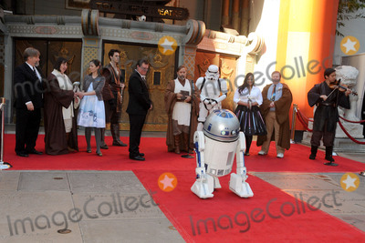 """TCL Chinese Theatre, Andrew Porters, Shawn Crosby Photo - 17 December 2015 - Hollywood, California - Andrew Porters, Shawn Crosby. Fans Get Married With """"Star Wars"""" Themed Wedding held at the TCL Chinese Theatre IMAX. Photo Credit: Byron Purvis/AdMedia"""