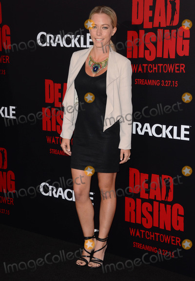 """Kendra Wilkinson, Kim Novak Photo - 11 March 2015 - Los Angeles, California - Kendra Wilkinson.  Arrivals for Crackle's world premiere original feature film """"Dead Rising: Watchtower"""" held at the Kim Novak Theater at Sony Pictures Studios. Photo Credit: Birdie Thompson/AdMedia"""