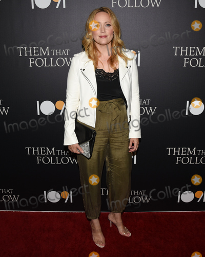 "Annie Tedesco Photo - 30 July 2019 - Los Angeles, California - Annie Tedesco. ""Them That Follow"" Los Angeles Premiere held at the Landmark Theatre. Photo Credit: Billy Bennight/AdMedia"