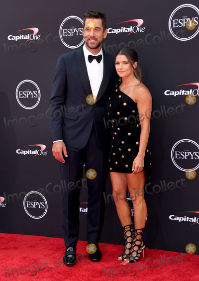 Aaron Rodgers, Danica Patrick Photo - 18 July 2018 - Los Angeles, California - Aaron Rodgers, Danica Patrick. The 2018 ESPYS held at the Microsoft Theater. Photo Credit: Birdie Thompson/AdMedia