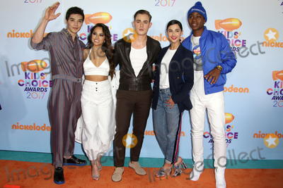 Becky G, Becky G., RJ Cyler, Naomi Scott, Dacre Montgomery, Ludi Lin Photo - 11 March 2017 -  Los Angeles, California - Ludi Lin, Becky G, Dacre Montgomery, Naomi Scott, RJ Cyler. Nickelodeon's Kids' Choice Awards 2017 held at USC Galen Center. Photo Credit: Faye Sadou/AdMedia