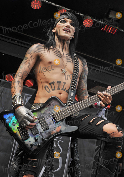 Ashley Purdy, THE ROCK Photo - 21 May 2011 - Columbus, Ohio - Bassist ASHLEY PURDY of the band BLACK VEIL BRIDES performs as part of the Rock On The Range festival held at Columbus Crew Stadium. Photo Credit: Jason L. Nelson/AdMedia