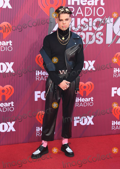Photo - 14 March 2019 - Los Angeles, California - Yungblud. 2019 iHeart Radio Music Awards Arrivals held at Microsoft Theater. Photo Credit: Birdie Thompson/AdMedia