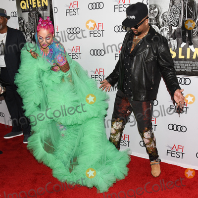 """Audy, Queen, The-Dream, The Dream, TCL Chinese Theatre, Melanie Halfkenny Photo - 14 November 2019 - Hollywood, California - Melanie Halfkenny, The-Dream. AFI FEST 2019 Presented By Audi  """"Queen & Slim"""" Premiere held at TCL Chinese Theatre. Photo Credit: Billy Bennight/AdMedia"""