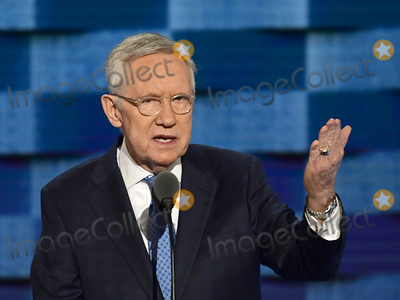 Harry Reid Photo - United States Senate Democratic Leader Harry Reid (Democrat of Nevada) makes remarks during the third session of the 2016 Democratic National Convention at the Wells Fargo Center in Philadelphia, Pennsylvania on Wednesday, July 27, 2016. Photo Credit: Ron Sachs/CNP/AdMedia