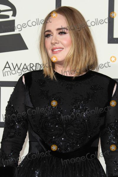 Adele, Adele Adkins, Grammy Awards Photo - 15 February 2016 - Los Angeles, California - Adele, Adele Adkins. 58th Annual GRAMMY Awards held at the Staples Center. Photo Credit: AdMedia
