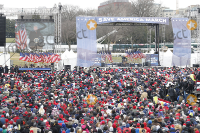 Joe Biden Photo - Supporters as US President Donald J. Trump delivers remarks to supporters gathered to protest Congress' upcoming certification of Joe Biden as the next president on the Ellipse in Washington, DC, USA, 06 January 2021. Various groups of Trump supporters are gathering to protest as Congress prepares to meet and certify the results of the 2020 US Presidential election.Credit: Shawn Thew / Pool via CNP/AdMedia