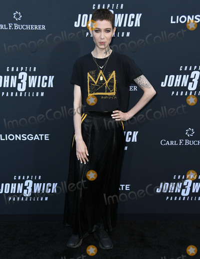 """TCL Chinese Theatre, John Wicks Photo - 15 May 2019 - Hollywood, California - Asia Kate Dillon. """"John Wick: Chapter 3 - Parabellum"""" Special Screening Los Angeles held at the TCL Chinese Theatre. Photo Credit: Birdie Thompson/AdMedia"""