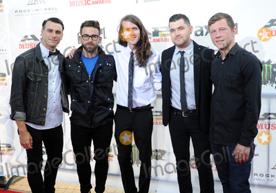 Mayday Parade, THE ROCK Photo - 21 July 2014 - Cleveland, OH - Members of the band MAYDAY PARADE attend the 1st Annual 2014 Gibson Brands AP Music Awards at the Rock and Roll Hall of Fame and Museum   Photo Credit: Jason L Nelson/AdMedia
