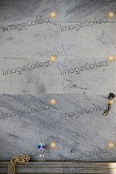 The Unit, Vandals Photo - Graffiti is seen on the outside wall of the front of the U.S. Capitol in the aftermath the morning after a riot by pro-Trump supporters who stormed and vandalized the U.S. Capitol as Electoral votes were being counted during a joint session of the United States Congress to certify the results of the 2020 presidential election. Washington, DC, Thursday, January 7, 2021. Credit: Rod Lamkey / CNP/AdMedia