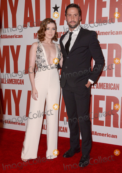 "Sarah Bolger, Juston Street Photo - 09 November - Los Angeles, Ca - Sarah Bolger, Juston Street. Arrivals for the Los Angeles premiere of ""My All American"" held TPacific Theaters at The Grove. Photo Credit: Birdie Thompson/AdMedia"