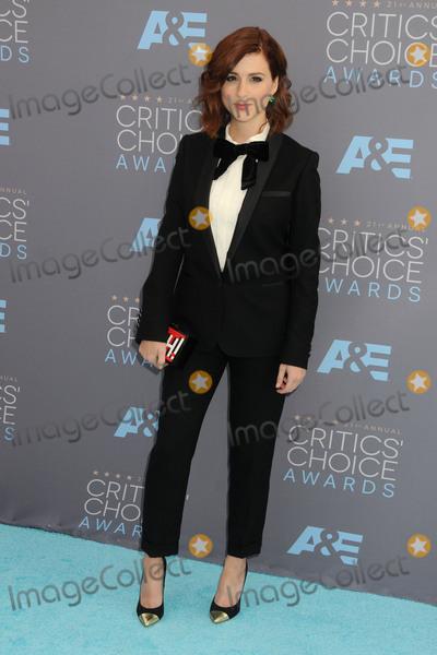 Aya Cash, Aya Photo - 17 January 2016 - Santa Monica, California - Aya Cash. 21st Annual Critics' Choice Awards - Arrivals held at Barker Hangar. Photo Credit: Byron Purvis/AdMedia