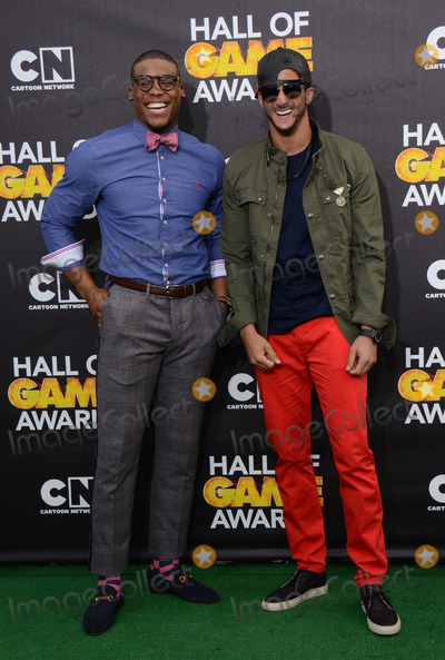 Cam Newton, Colin Kaepernick Photo - 15 February 2014 - Santa Monica, California - Cam Newton and Colin Kaepernick. 2014 Cartoon Network's Fourth Annual Hall of Game Awards held at the Barker Hangar. Photo Credit: AdMedia