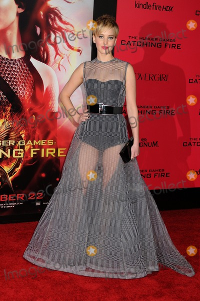 """Jennifer Lawrence Photo - 18 November 2013 - Los Angeles, California - Jennifer Lawrence. """"The Hunger Games: Catching Fire"""" Los Angeles Premiere held at Nokia Theatre LA Live. Photo Credit: Byron Purvis/AdMedia"""