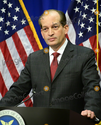 Alex Acosta Photo - United States Secretary of Labor Alex Acosta holds a press conference at the Department of Labor in Washington, DC on Wednesday, July 10, 2019.  He was discussing the Epstein Case.Photo Credit: Ron Sachs/CNP/AdMedia