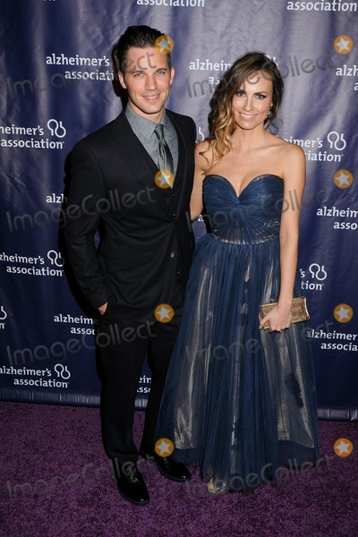 """Matt Lanter, Angela Lanter Photo - 18 March 2015 - Beverly Hills, California - Matt Lanter, Angela Lanter. 23rd Annual """"A Night at Sardi's"""" Benefit for the Alzheimer's Association held at The Beverly Hilton Hotel. Photo Credit: Byron Purvis/AdMedia"""
