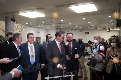 Photo - Bruce Castor, defense lawyer for former President Donald J. Trump offers remarks to reporters after the U.S. Senate voted 57-43 to acquit former President Donald J. Trump on an impeachment charge of inciting the attack on the U.S. Capitol on January 6, 202, at the U.S. Capitol in Washington, DC, Saturday, February 13, 2021. Credit: Rod Lamkey / CNP/AdMedia
