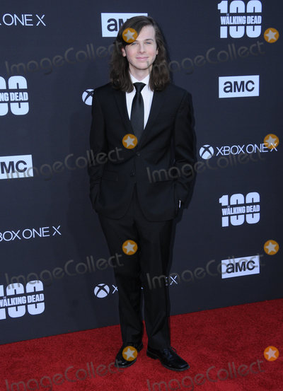 "Chandler Riggs Photo - 22 October  2017 - Los Angeles, California - Chandler Riggs. AMC Celebrates the 100th Episode of ""The Walking Dead"" held at The Greek Theater in Los Angeles. Photo Credit: Birdie Thompson/AdMedia"