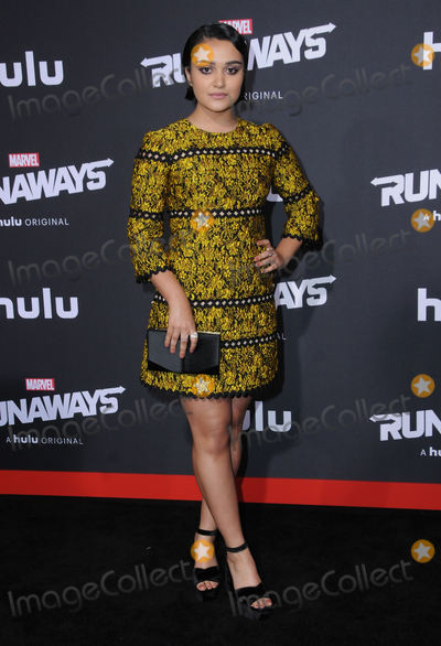 "Ariela Barer, Runaways Photo - 16 November  2017 - Westwood, California - Ariela Barer. Premiere Of Hulu's ""Marvel's Runaways"" held at Regency Village Theater in Westwood. Photo Credit: Birdie Thompson/AdMedia"