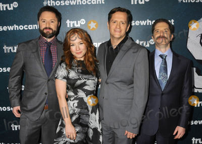 "Andrew Orvedahl, Adam Cayton-Holland, MARIA THAYER, Ben Roy Photo - 28 January 2016 - Los Angeles, California - Adam Cayton-Holland, Maria Thayer, Ben Roy, Andrew Orvedahl. ""Those Who Can't"" Series Premiere held at The Wilshire Ebell Theatre. Photo Credit: Byron Purvis/AdMedia"