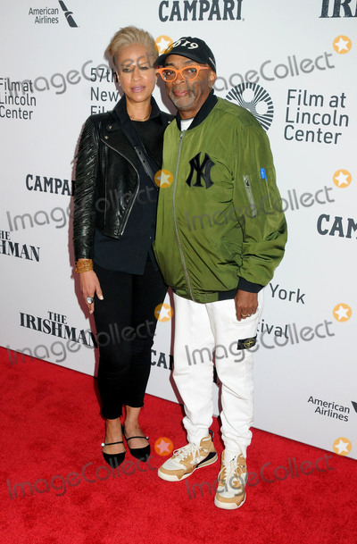 "Spike Lee, Tonya Lewis, Tonya Lewis Lee Photo - 27 September 2019 - New York, New York - Tonya Lewis Lee, Spike Lee. ""The Irishman"" 57th New York Film Festival held at Alice Tully Hall, Lincoln Center. Photo Credit: AdMedia"