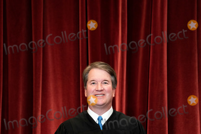 Supremes, The Supremes, Group Photo, Supreme Court Photo - Associate Justice of the Supreme Court Brett Kavanaugh stands during a group photo of the Justices at the Supreme Court in Washington, DC on April 23, 2021.  Credit: Erin Schaff / Pool via CNP/AdMedia