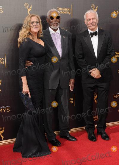 Morgan Freeman Photo - 11 September 2016 - Los Angeles, California. Lori McCreary, Morgan Freeman, James Younger. 2016 Creative Arts Emmy Awards - Day 2 held at Microsoft Theater. Photo Credit: Birdie Thompson/AdMedia
