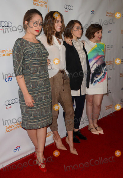 Allison Williams, Lena Dunham, Zosia Mamet, Jemima Kirke Photo - 13 March 2014 - North Hollywood, California - Jemima Kirke, Allison Williams, Zosia Mamet, Lena Dunham.  The Television Academy Presents An Evening With 'Girls' at Leonard H. Goldenson Theatre in North Hollywood. Photo Credit: Birdie Thompson/AdMedia