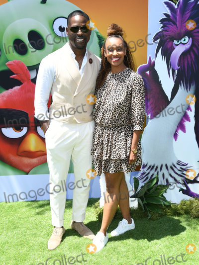 "Ryan Michelle Bathe, Angry Bird, Angry Birds Photo - 10 August 2019 - Westwood, California - Sterling K. Brown, Ryan Michelle Bathe. Sony's ""The Angry Birds Movie 2"" Los Angeles Premiere held at Regency Village Theater. Photo Credit: Birdie Thompson/AdMedia"