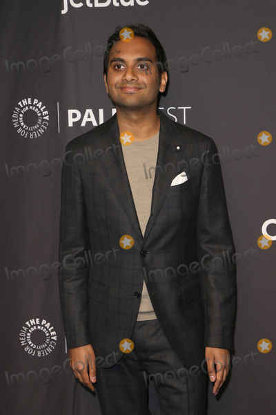 "Aziz Ansari Photo - 21 March 2019 - Hollywood, California - Aziz Ansari. The Paley Center For Media's 2019 PaleyFest LA - ""Parks And Recreation"" 10th Anniversary Reunion held at The Wolf Theatre at The Dolby Theatre. Photo Credit: Faye Sadou/AdMedia"