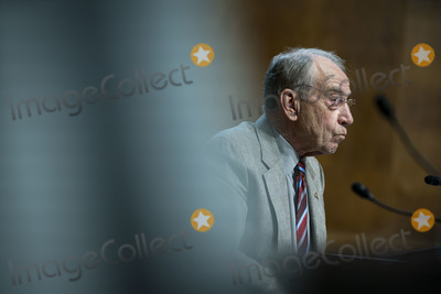 Chuck Grassley Photo - United States Senator Chuck Grassley (Republican of Iowa), listens during a US Senate Judiciary Subcommittee hearing in Washington, D.C., U.S., on Tuesday, April 27, 2021. The hearing is examining the effect social media companies' algorithms and design choices have on users and discourse. Credit: Al Drago / Pool via CNP/AdMedia