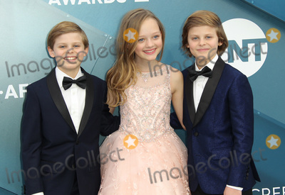 Ivy George, Cameron Crovetti, Nicholas Crovetti Photo - 19 January 2020 - Los Angeles, California - Nicholas Crovetti, Ivy George and Cameron Crovetti. 26th Annual Screen Actors Guild Awards held at The Shrine Auditorium. Photo Credit: AdMedia