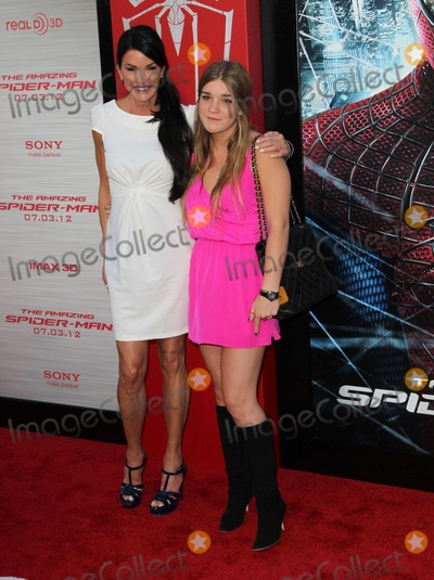 """Spider Man, Spider-Man, Spiderman, Janice Dickinson Photo - 28 June 2012 - Westwood, California - Janice Dickinson, Savannah Dickinson. Columbia Pictures Los Angeles Premiere Of """"The Amazing Spider-Man"""" Held The at Regency Village Theatre. Photo Credit: Faye Sadou/AdMedia"""