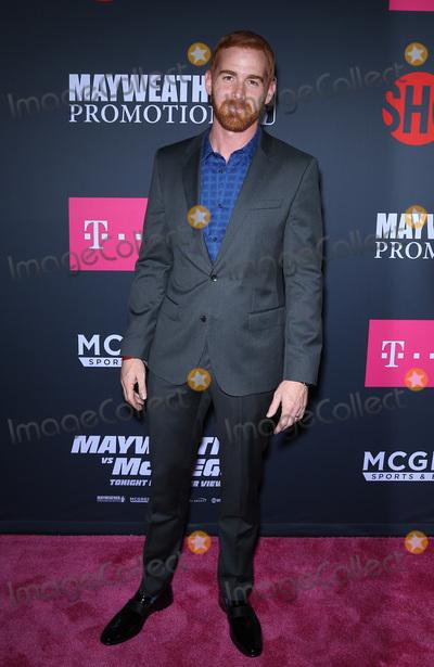 Andrew Santino Photo - 26 August 2017 - Las Vegas, NV -  Andrew Santino.  Mayweather vs McGregor pre-fight VIP Red Carpet at T-Mobile Arena. Credit: mjt/AdMedia