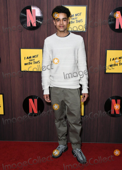 """Amir Wilson Photo - 25 February 2020 - West Hollywood, California - Amir Wilson. Netflix's """"I'm Not Okay With That"""" Los Angeles Premiere held at The London West Hollywood. Photo Credit: Birdie Thompson/AdMedia"""