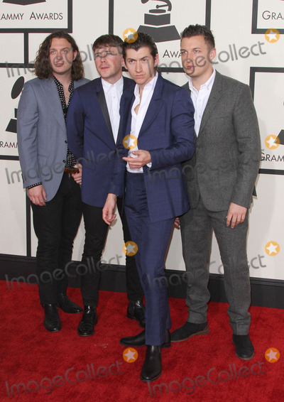 Alex Turner, Arctic Monkeys, Jamie Cook, Matt Helders, Nick O'Malley, Grammy Awards Photo - 08 February 2015 - Los Angeles, California - Nick O'Malley, Jamie Cook, Alex Turner, and Matt Helders, Arctic Monkeys.57th Annual GRAMMY Awards held at the Staples Center. Photo Credit: AdMedia