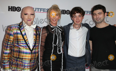 "Trudi Styler, Trudie Styler, Trudy Styler, Ian Nelson, Alex Lawther Photo - 16 July 2017 - Los Angeles, California - James St. James, Trudie Styler, Alex Lawther, Ian Nelson. 2017 Outfest Los Angeles LGBT Film Festival Closing Night Gala and Screening of ""Freak Show."" Photo Credit: F. Sadou/AdMedia"