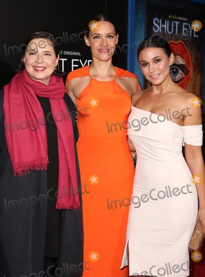 "Emmanuelle Chriqui, Isabella Rossellini, Kadee Strickland Photo - 01 December 2016 - Hollywood, California - Isabella Rossellini, KaDee Strickland, and Emmanuelle Chriqui. Premiere Of Hulu's ""Shut Eye"" held at ArcLight Hollywood. Photo Credit: F. Sadou/AdMedia"