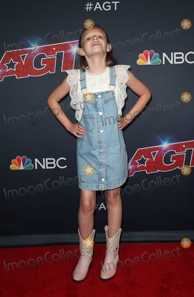 "Ansley Burns Photo - 13 August 2019 - Hollywood, California - Ansley Burns. ""America's Got Talent"" Season 14 Live Show Red Carpet held at Dolby Theatre. Photo Credit: FSadou/AdMedia"