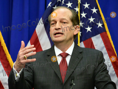 Alex Acosta Photo - United States Secretary of Labor Alex Acosta holds a press conference at the Department of Labor in Washington, DC on Wednesday, July 10, 2019.  He was discussing the Epstein Case.