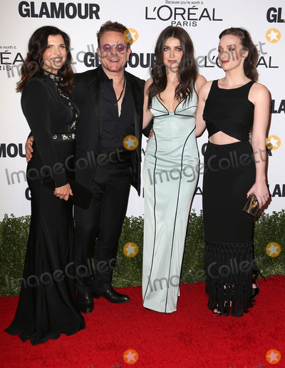 Bono, Eve, Eve Hewson, Jordan Hewson Photo - 14 November 2016 - Los Angeles, California - Alison Hewson, Bono, Eve Hewson and Jordan Hewson. Glamour Women Of The Year 2016 held at NeueHouse Hollywood. Photo Credit: AdMedia