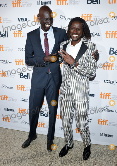 """Photo - 07 September 2014 - Toronto, Canada - Emmauel Jal, Ger Duany. """"The Good Lie"""" Premiere during the 2014 Toronto International Film Festival held at the Winter Garden Theatre. Photo Credit: Brent Perniac/AdMedia"""