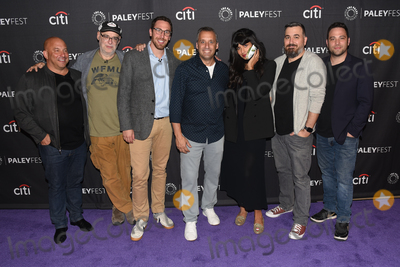"Ben Newmark, Jameela Jamil, Joe Gatto, Brian Quinn, Andy Breckman, Joe Corré, Michael Bublé, Michael Paré Photo - 13 September 2019 - Beverly Hills, California - (L-R) Michael Bloom, Andy Breckman, Joe Gatto, Jameela Jamil, Brian Quinn and Ben Newmark. ""The Misery Index"" at The Paley Center For Media's 13th Annual PaleyFest Fall TV Previews - TBS. Photo Credit: Billy Bennight/AdMedia"