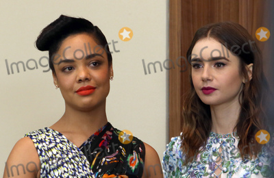 Lily Collins, Tessa Thompson Photo - 21 November 2017 -  West Hollywood, California - Tessa Thompson, Lily Collins. Film Independent 2018 Spirit Awards Press Conference held at The Jeremy Hotel. Photo Credit: Faye Sadou/AdMedia