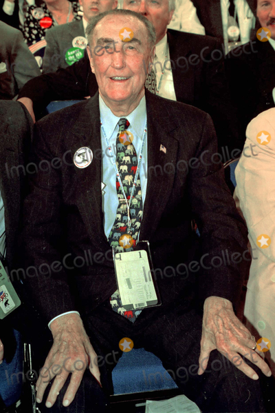The Used, Republican Convention Photo - San Diego, CA - August 12, 1996 - Sen. J. Strom Thurmond (R-SC) oldest man to serve in the US Senate.  Born December 5, 1902 in Edgefield, SC.  Currently running for re-election in the November, 1996 election.  If elected, his trem will end a month after his 100th birthday.San Diego, CA - August 12, 1996 - United States Senator J. Strom Thurmond (Republican of South Carolina), the oldest man to serve in the US Senate, on the floor of the 1996 Republican National Convention at the San Diego Convention Center in San Diego, California on August 12, 1996.  He was born December 5, 1902 in Edgefield, SC and is currently running for re-election in the November, 1996 election.  If elected, his term will end one month after his 100th birthday.Credit: Ron Sachs / CNP/AdMedia
