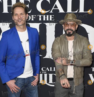 Photo - 13 February 2020 - Hollywood, California -  AJ McLean and Mark Adler. The Call of the Wild Twentieth Century Studios World Premiere held at El Capitan Theater. Photo Credit: Dave Safley/AdMedia