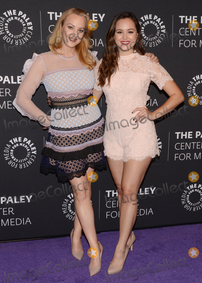"""Wendi McLendon Covey, Wendi McLendon-Covey, Wendy McLendon-Covey, Hayley Orrantia Photo - 17 October 2017 - Beverly Hills, California - WENDI MCLENDON-COVEY and HAYLEY ORRANTIA. Paley Center For Media Presents: """"The Goldbergs"""" 100th Episode Celebration held at The Paley Center for Media. Photo Credit: Billy Bennight/AdMedia"""