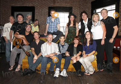Brent Anderson, Jeff Taylor, Bill Lloyd, Mark Selby, Vince Gill, Pete Huttlinger, John Jorgenson, Cynthia Martinez, Alyssa Bonagura, Buddy Greene, Michael Bonagura, Front Row, Kathy Baillie Photo - July 26, 2011 - Nashville, TN - (back row l-r) Name unknown, Bill Lloyd, Jeff Taylor,Jim Hoke, Brent Anderson, Alyssa Bonagura, Michael Bonagura, Cynthia Martinez and John Jorgenson; (front row l-r) Vince Gill, Mark Selby, Buddy Greene, Pete Huttlinger, Kathy Baillie and Sean Della Croce. Artists, musicians and songwriters came together at Mercy Lounge to help raise funds for Pete Huttlinger, a widely respected guitarist and Nashville studio artist.  Huttlinger has a congenital heart disease and is in need of a heart transplant. Photo credit: Dan Harr/Admedia