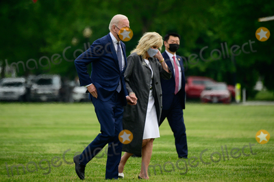 Jill Biden, Joe Biden, Marine One, White House, The White Photo - U.S. President Joe Biden and First Lady Jill Biden arrive to the White House Ellipse on Marine One after a visit to Virginia, in Washington, D.C., U.S., on Monday, May 3, 2021. Biden's $4 trillion vision of remaking the federal government's role in the U.S. economy is now in the hands of Congress, where both parties see a higher chance of at least some compromise than for the administrations pandemic-relief bill.Credit: Erin Scott / Pool via CNP/AdMedia